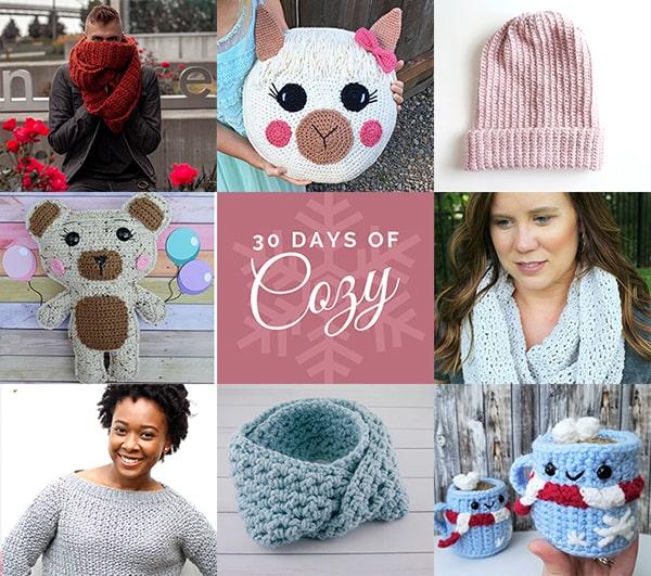 30 Days of Cozy 2019 - 30 Crochet Patterns in 30 Days