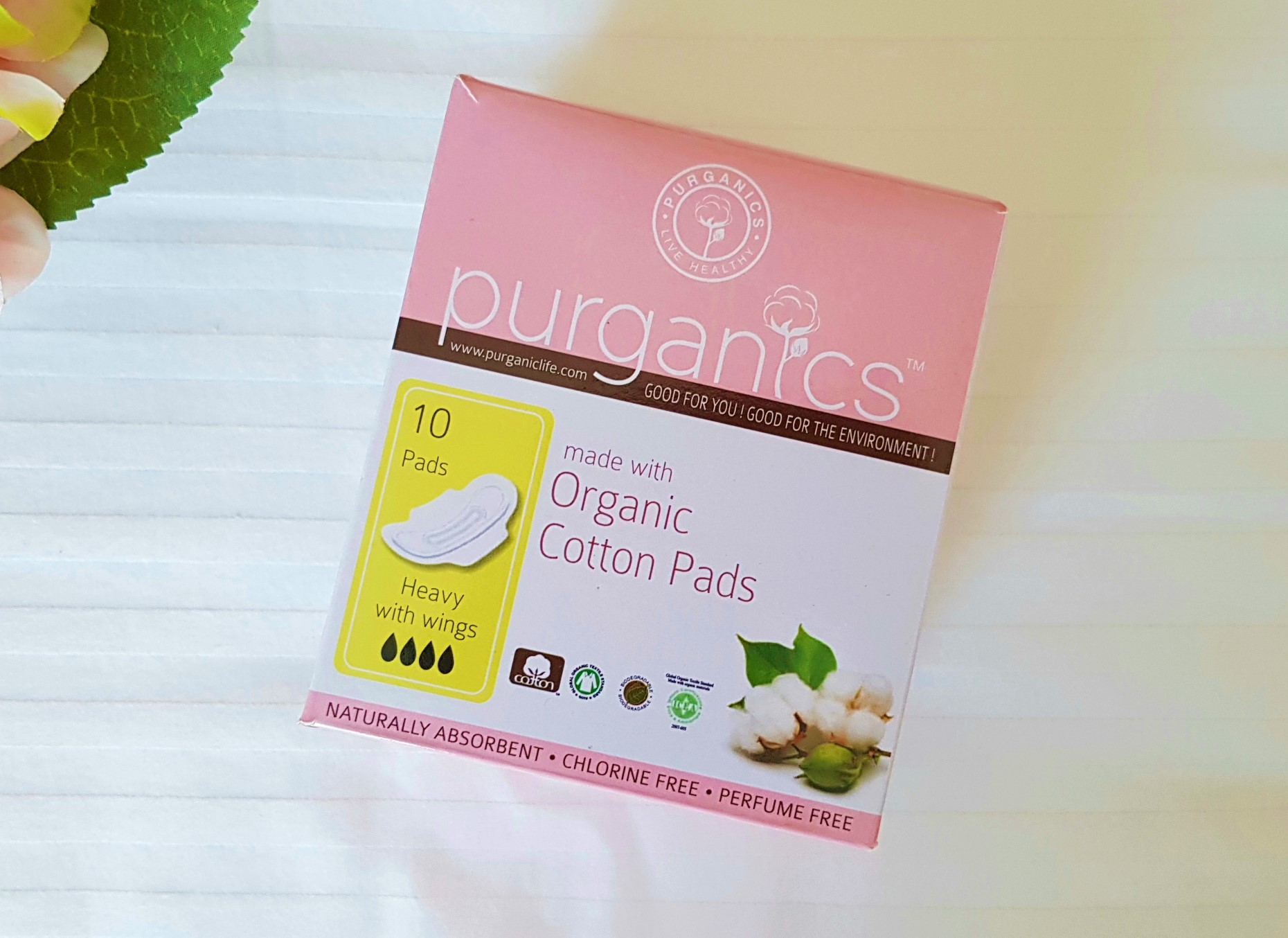 Sustainable Menstruation - Purganics Organic Cotton Pads - eco-friendly menstrual pads safe for women - healthy periods - Not Quite