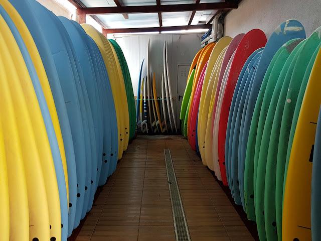 Almacén de tablas de Art Surf Camp