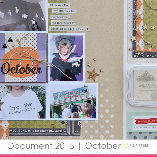 Document 2015 | October self-paced scrapbook class taught by Aly Dosdall at Big Picture Classes #scrapbookworkshop #scrapbookingclass