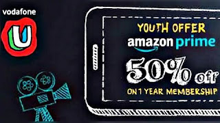 'Vodafone Youth Offer' giving an annual subscription of Amazon Prime for Rs 499