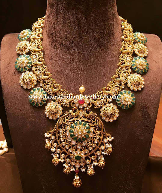 Intricate Peacock Work Bridal Necklace