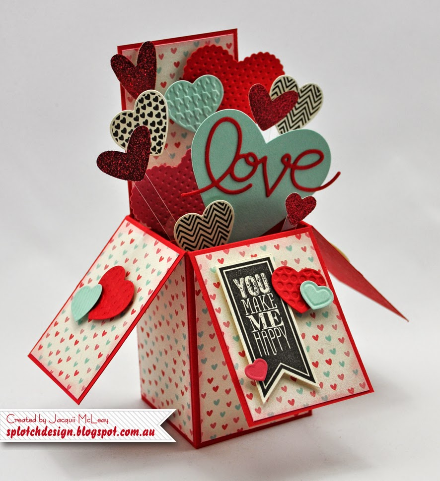 Lieblings Splotch Design - Independent Stampin' Up! Demonstrator: Card in a Box @DM_23
