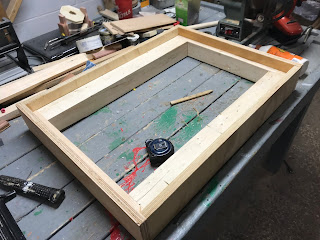 Attaching the end plywood sides