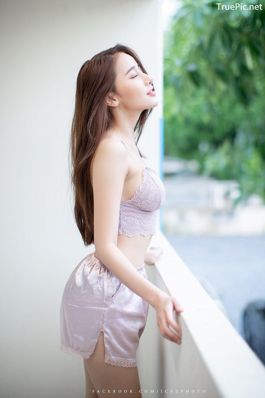 Image-Thailand-Hot-Model-Pichana-Yoosuk-Sexy-Purple-Bra-Shiny-Short-Pants-TruePic.net- Picture-9