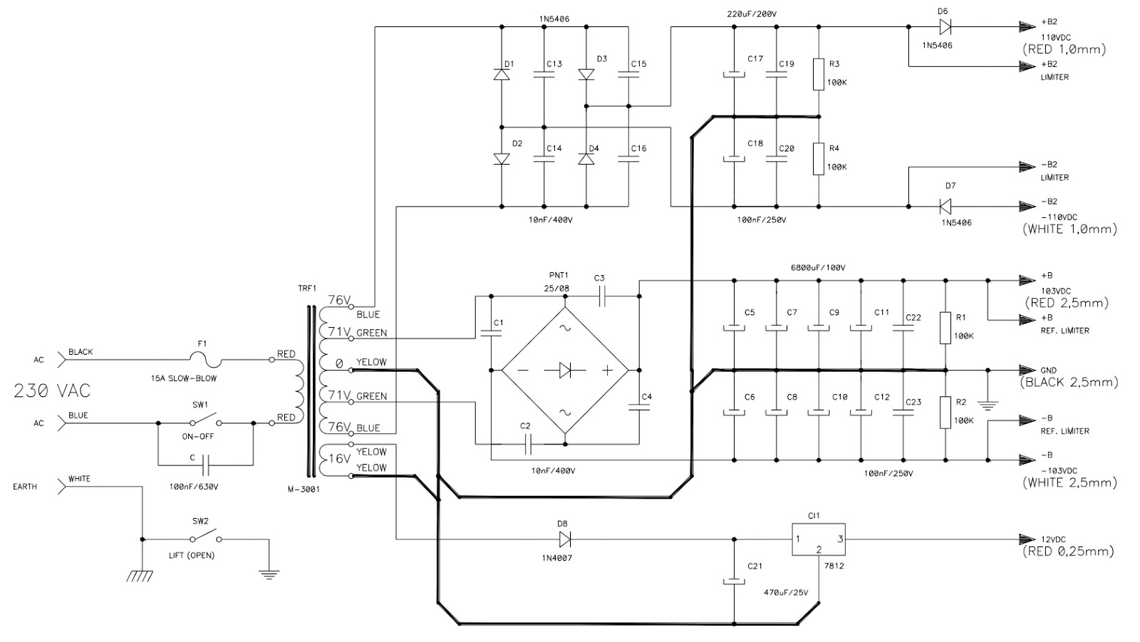 attack 6400 professional power amplifier circuit diagram magnetek 6409 wiring diagram 6400 converter wiring diagram