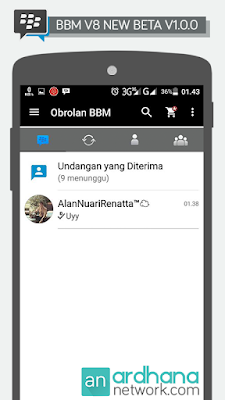 Preview BBM V8 New Beta V1.0.0