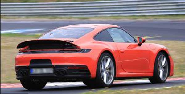 spied 2020 porsche 911 turbo facelift rear view