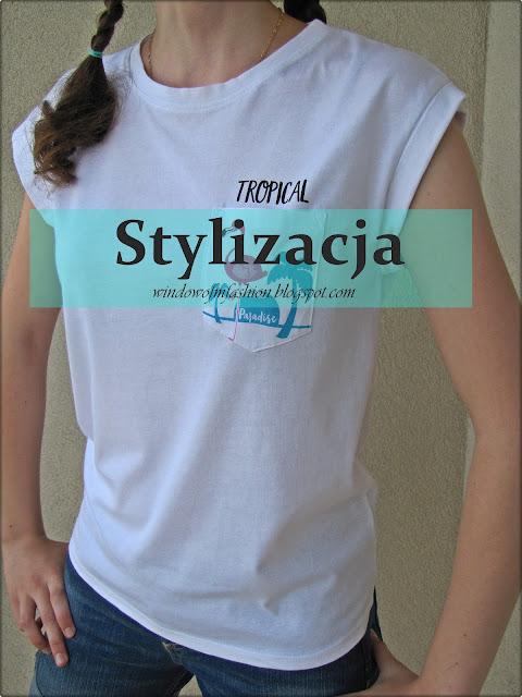 Stylizacja: koszulka z flamingiem