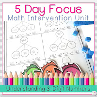 This related unit for teaching place value of 3 digit numbers can be found on Teachers Pay Teachers.