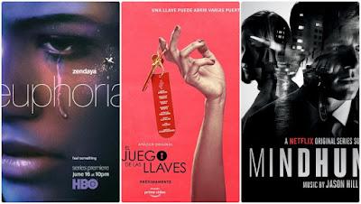 Euphoria de HBO, Mindhunter de Netflix y El juego de las llaves de Amazon Prime.