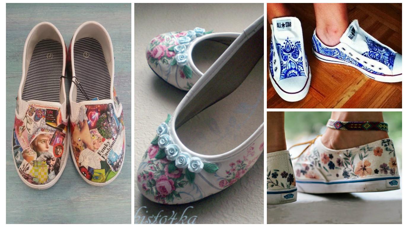 aprende la t cnica para decorar zapatos con servilletas de