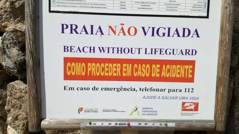 Placa de Praia não Vigiada