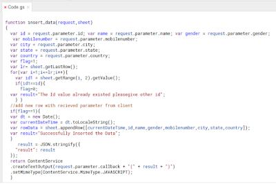 insert operation in google apps script
