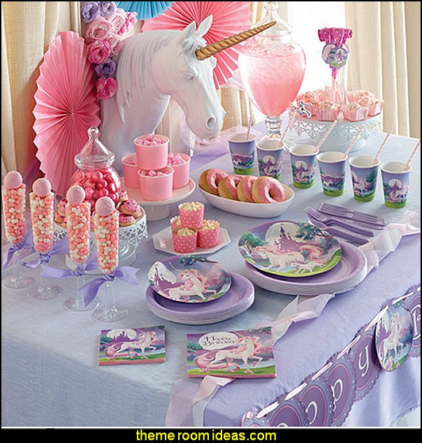 Girls Party Unicorn Fantasy Party Supplies Birthday Party Girls Theme Party  Decorations