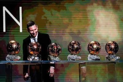 #6th #Ballon #d'Or #Winner:    2009. 2010. 2011. 2012. 2015. 2019.    #Messi..