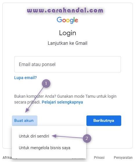 Cara Membuat Akun Gmail Tanpa No Hp di Pc