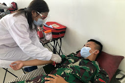 Satgas Yonif 744 dan BNPP Motaain Gelar Bhakti Sosial Donor Darah