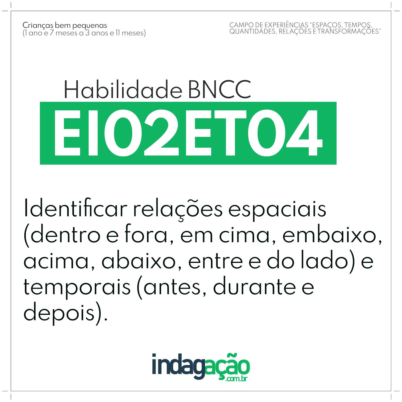 Habilidade EI02ET04 BNCC