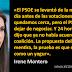 """Irene Montero: """"Nunca hemos querido sillones, queremos cambiar la vida de la gente""""."""