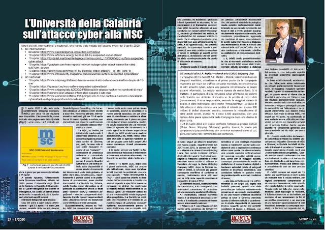 MAGGIO 2020 PAG. 24 - L'Università della Calabria sull'attacco cyber alla MSC