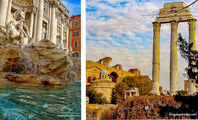 Roma: Fontana di Trevi e Fórum Romano