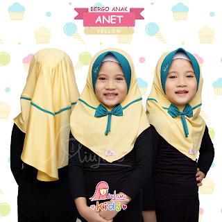 Anet Kids Jilbab Miulan Anak Yellow