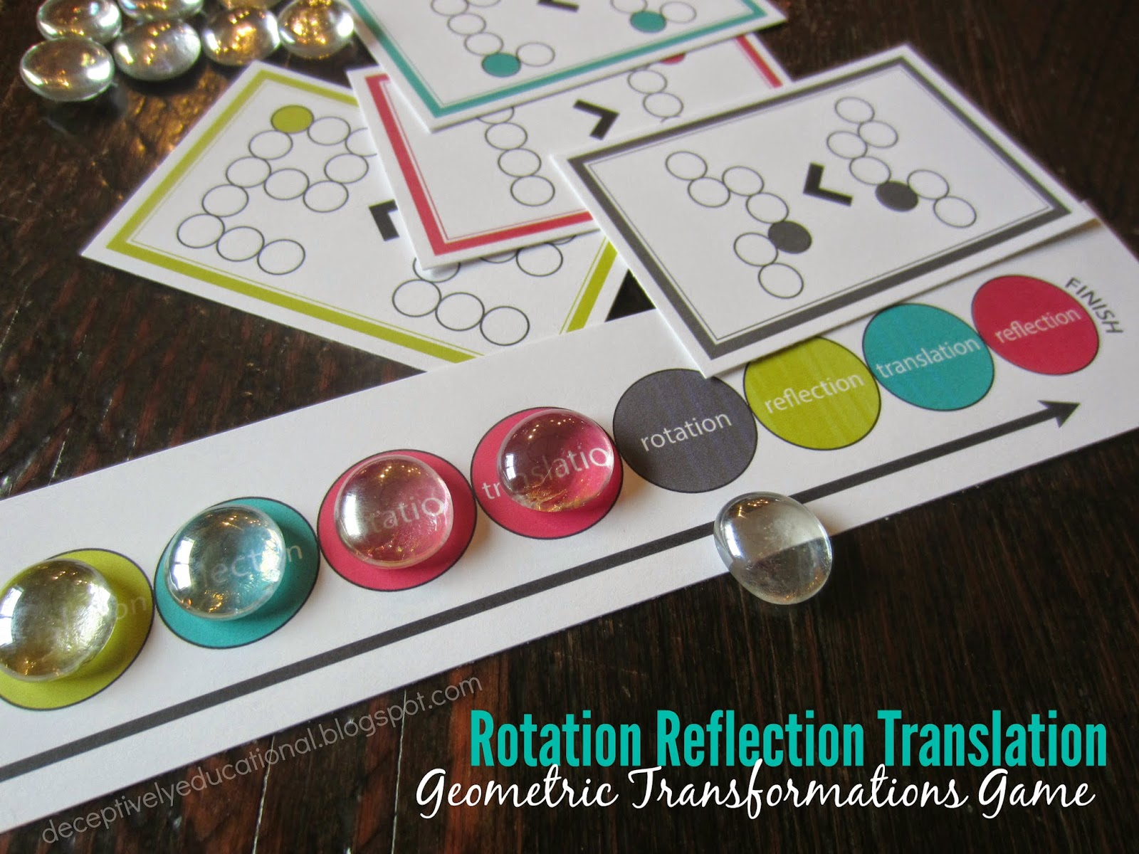 Relentlessly Fun Deceptively Educational Rotation Reflection Translation Game Free Printable