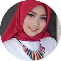 fauzi jadi model hijab