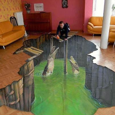 3D floor art self-leveling floor design