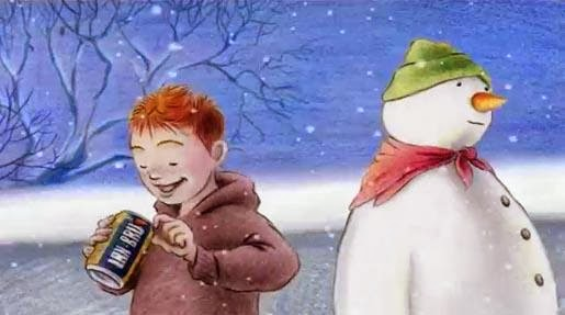 Iron Bru snowman Christmas TV advert