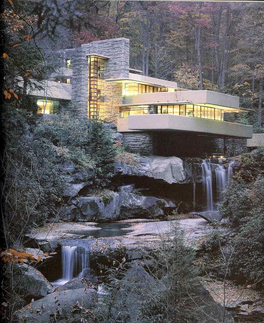 Franck lloyd wright est mon archi préféré notamment sa maison de la cascade