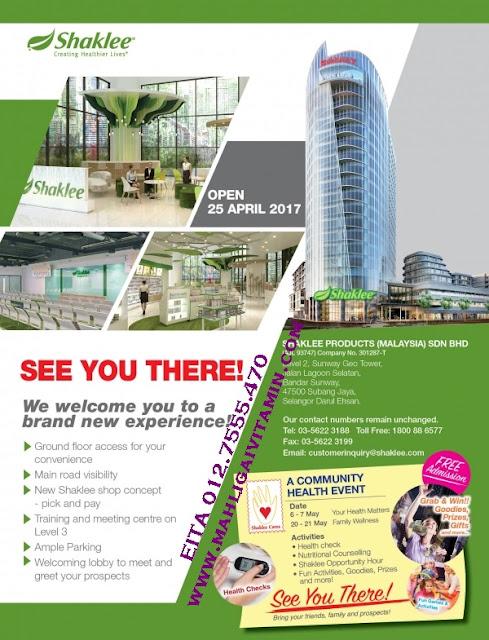 alamat baru HQ shaklee malaysia