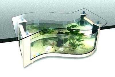 Banyak hal yang bisa dilakukan untuk membuat ruang tamu menjadi unik 36 Model Meja Aquarium Modern dan Tampil Beda