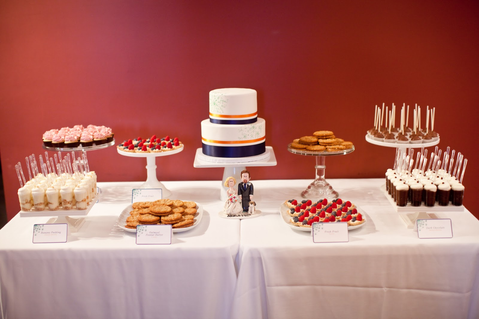 cocoa fig minneapolis wedding cake and dessert table sarah and dennis. Black Bedroom Furniture Sets. Home Design Ideas