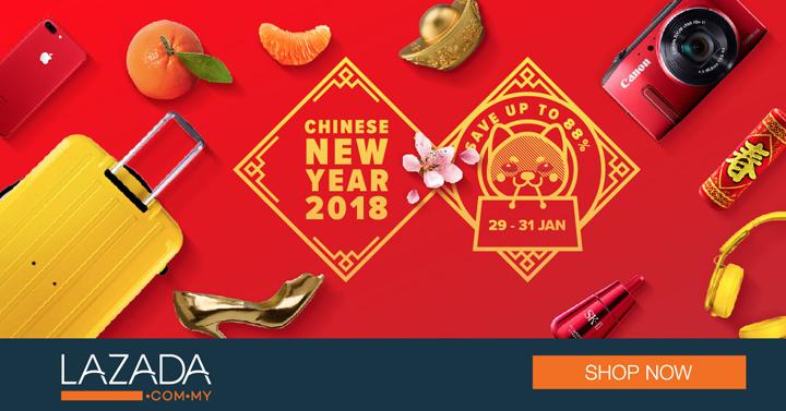 CNY 2018 Lazada Sale - 88% Saving
