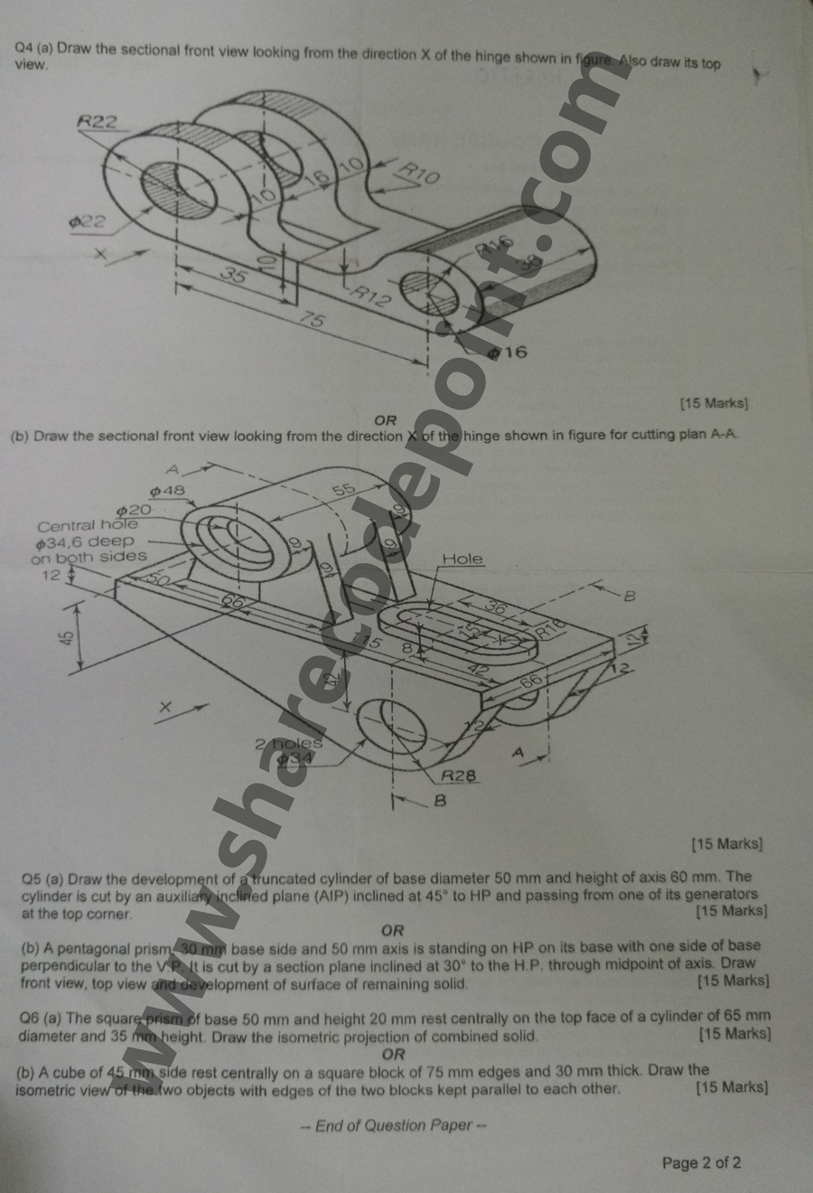 Mec103 engineering graphics end term exam question paper mec 103 technical drawing is used to fully and clearly define requirements for engineered items engineering drawing produces engineering drawings wikipedia malvernweather Choice Image