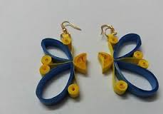 latest handmade butterfly quilling paper earrings - quillingpaperdesigns