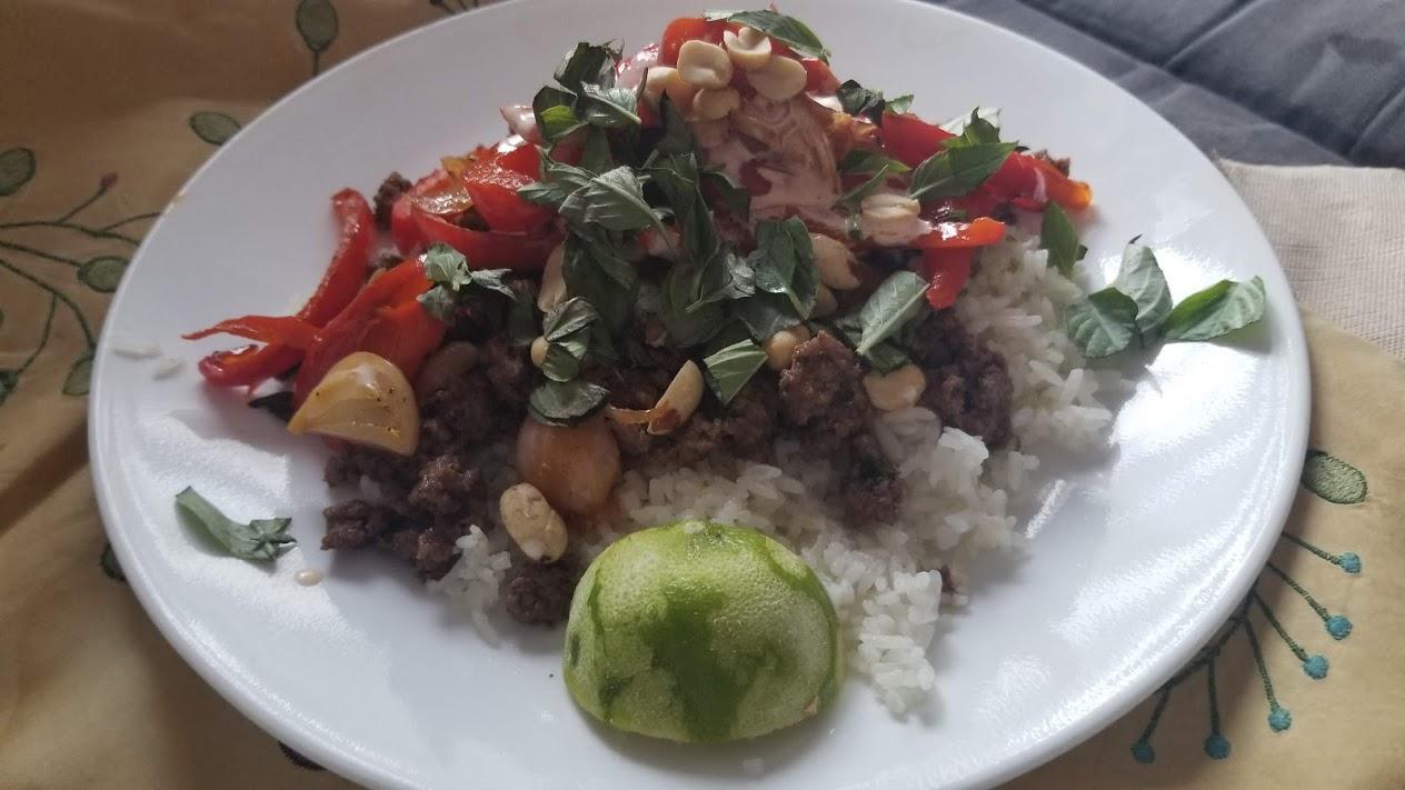 Hello Fresh Thai beef bowl