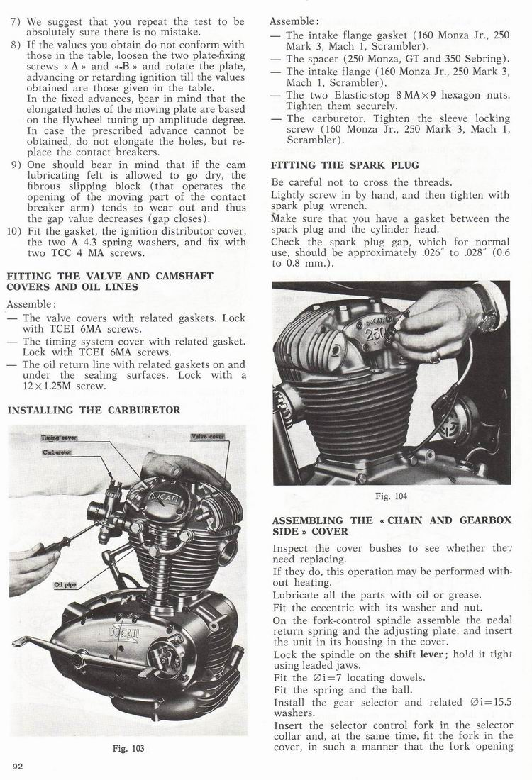 Vintage Veloce Setting The Ignition Timing Advance On A Ducati Alfa Romeo However It Doesnt Really Cover Things Like How To Find Tdc Or Check With Automatic Mechanism Fully Advanced