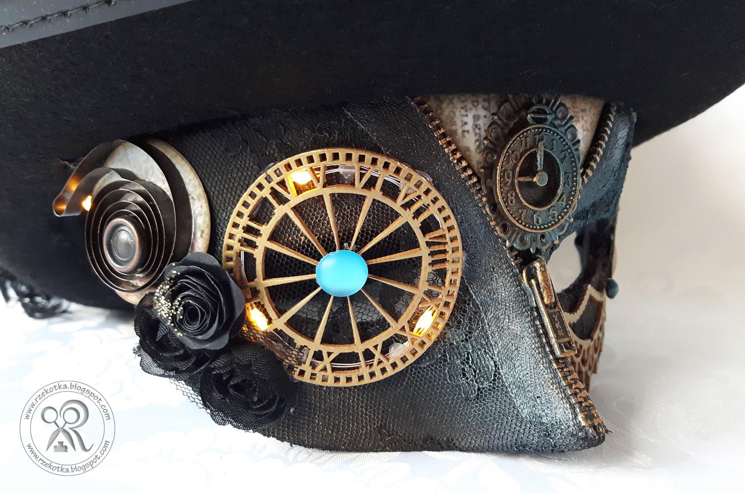 Maska karnawałowa steampunk