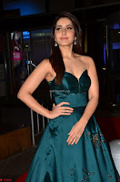 Raashi Khanna in Dark Green Sleeveless Strapless Deep neck Gown at 64th Jio Filmfare Awards South ~  Exclusive 027.JPG