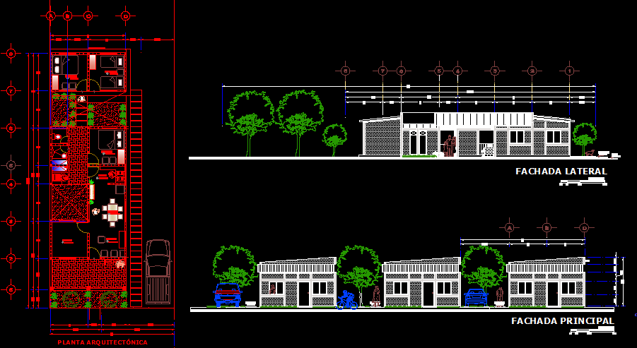 Single story 3 bedrooms house construction plan