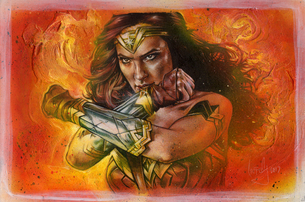 Gal Gadot as Wonder Woman, Artwork© Jeff Lafferty