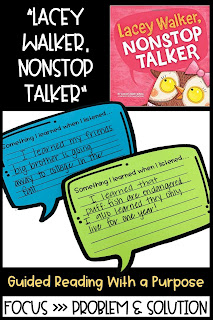 Lacey Walker, Non-Stop Talker mentor text for classroom expectations