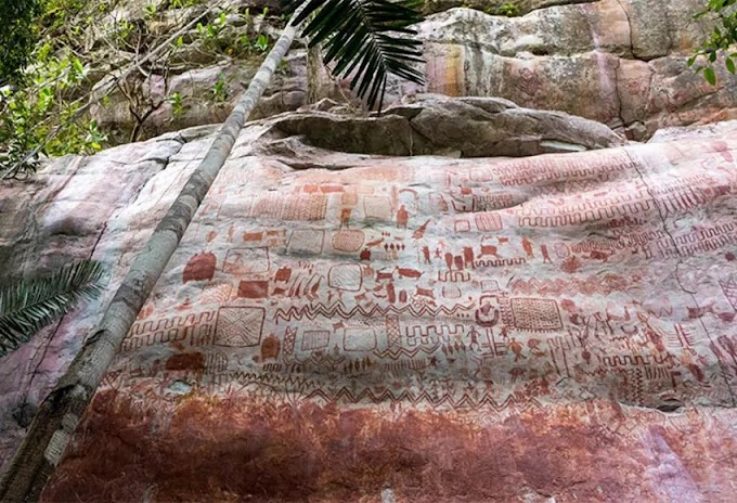 For 12500 Years Old Rock Paintings Found In Amazon Rainforest