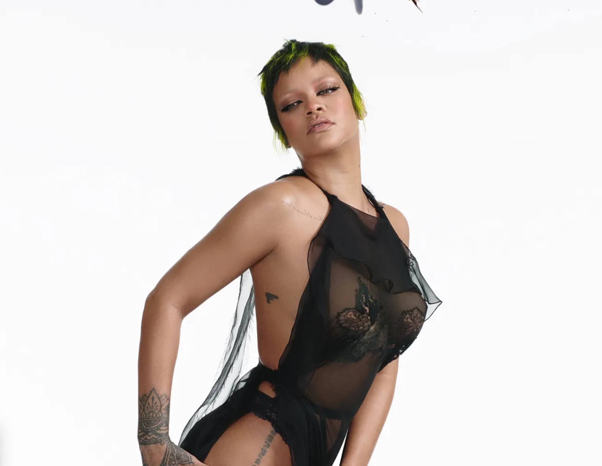 Rihanna wearing Valentino on the Vogue Italia June 2021 Issue