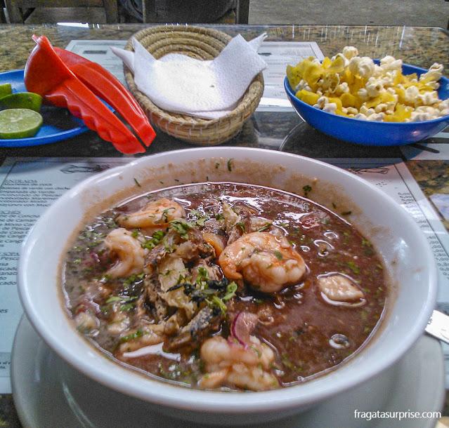 Comer em Quito: ceviche equatoriano