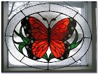 Butterfly Stained GLASS WINDOW Panels