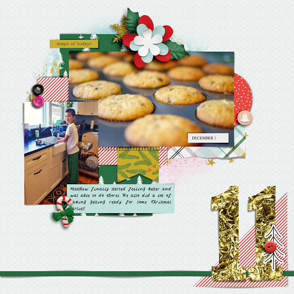 Digital Scrapbook Page Document Your December Day 11